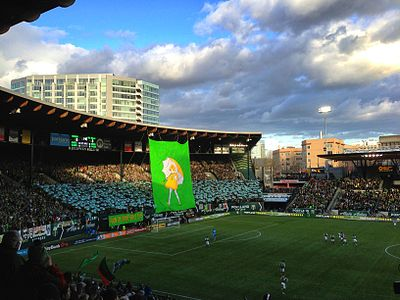 Providence Park, home of the Portland Timbers and the Portland Thorns Jeld-Wen Field 2013.jpg