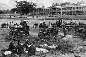 Jerome Park Racetrack - Coaches at the racetrack, 1886