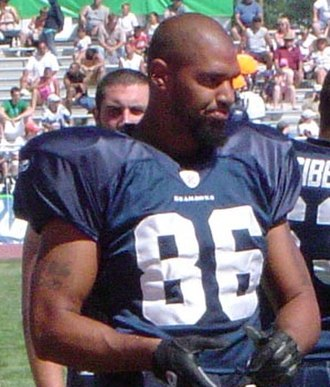 Jerramy Stevens - Stevens at the 2005 Seahawks intrasquad scrimmage