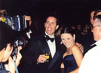 Jerry Seinfeld - Seinfeld with Julia Louis-Dreyfus at the 1997 Emmy Awards