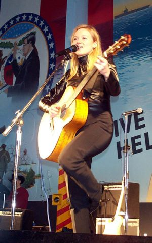 Yodeling - Jewel performing for US troops in 2000.