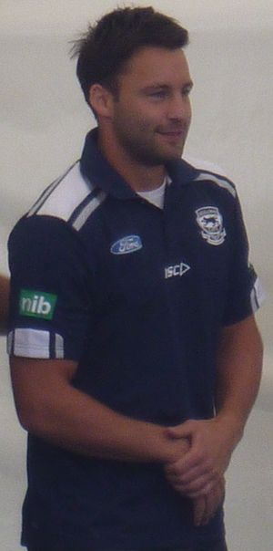 2011 AFL Grand Final - Jimmy Bartel at Geelong's 2011 AFL Premiership victory parade.