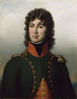 Joachim Murat - Joachim Murat as a sous-lieutenant of the 12th Chasseur-à-cheval; portrait by Jean-Baptiste Paulin Guérin