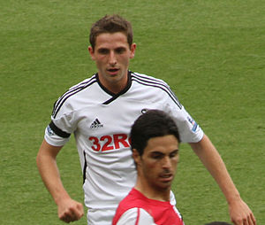 Joe Allen - Allen playing for Swansea City in 2011