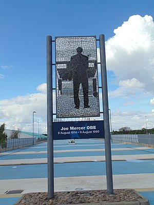 Joe Mercer - A mosaic in memory of Joe Mercer