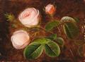 Johan Laurentz Jensen - Tre lyserøde roser.png