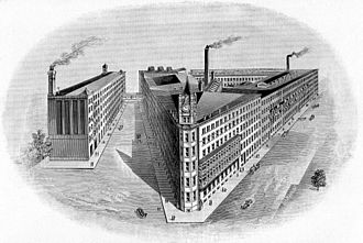 Stetson - Stetson's nine acre factory in Philadelphia (1894)
