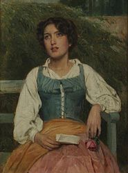 John Bagnold Burgess - Portrait of a young woman with a love letter.jpg