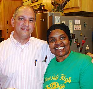 John Bel Edwards - Edwards with a constituent in 2010