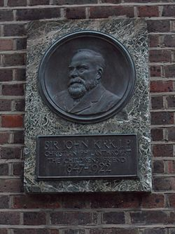 Photo of John Kirk marble plaque