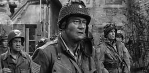 Tom Tryon - Tryon is on the right behind John Wayne, from the movie The Longest Day