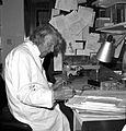 John Young in his room at the Wellcome Institute Wellcome L0012868.jpg