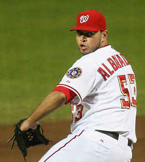 Jonathan Albaladejo - Albaladejo pitching for the Washington Nationals in 2007
