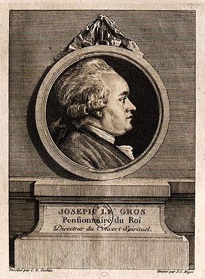 Concert Spirituel - Joseph Le Gros «Directeur du Concert Spirituel» Drawing by Charles-Nicolas Cochin