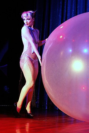 Bubble dance - Julie Atlas Muz at the Miss Exotic World Pageant, 2006. Photo Michael Albov