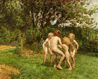 Julius Paulsen - Image: Julius Paulsen Runddans i Græsted (1909)