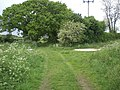 Junction of Broad Lane with track from Broomsthorpe through to Rudham Grange - geograph.org.uk - 434977.jpg
