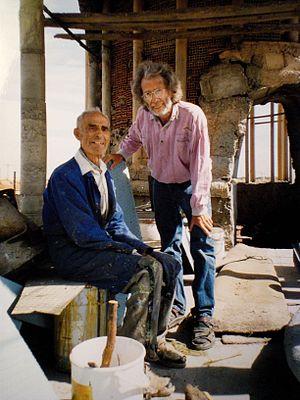 Justo Gallego Martínez - Justo with German artist Ulrich Brinkhoff