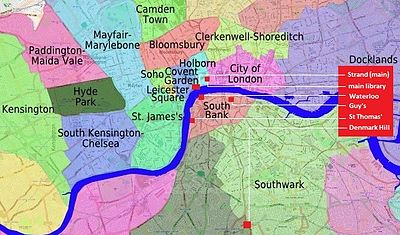 Nice Kings College London  Wikipedia With Fair The Campuses Of Kings College London Indicated On A Central London Map With Attractive Make Your Own Garden Bench Also Hong Kong Garden Lyrics In Addition Ornamental Garden Bridge And Garden Arbor Ideas As Well As Stone Rocks For Garden Additionally Garden Pest From Enwikipediaorg With   Fair Kings College London  Wikipedia With Attractive The Campuses Of Kings College London Indicated On A Central London Map And Nice Make Your Own Garden Bench Also Hong Kong Garden Lyrics In Addition Ornamental Garden Bridge From Enwikipediaorg