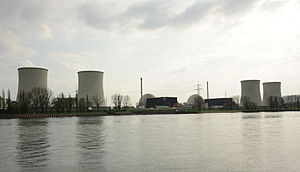 General view of the facility from the left bank of the Rhine
