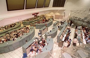 Launch Control Center - Firing Room 1 configured for space shuttle launches