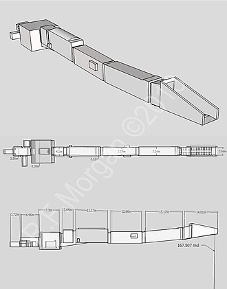 KV2 - Isometric, plan and elevation images taken from a 3d model