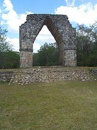 Falso arco maya.