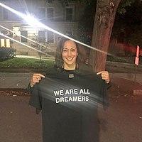 Kamala Harris with We Are All Dreamers t-shirt.jpg