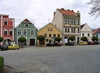 Kamenice nad Lipou - Image: Kamenice nad Lipou, Čsl. armády sq