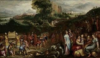 The crossing of the River Jordan