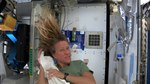 File:Karen Nyberg Shows How You Wash Hair in Space.webm