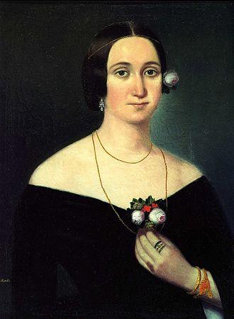 Giuseppina Strepponi - Painting by Karoly Gyurkovich, c. 1860s.