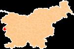 Loko de la Municipo de Brda en Slovenio