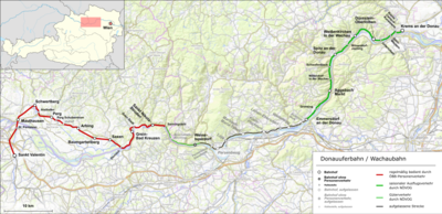 Wachau Karte Donau.Donauuferbahn Wachau Wikipedia