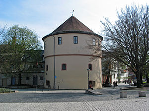 Weimar - The Kasseturm is a relic of the former city wall at Goetheplatz