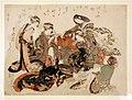 Katsushika hokusai, un gruppo di sei donne, 1823 ca.jpg
