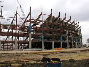 KCOM Stadium - The stadium under construction in 2002