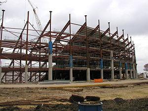 KCOM Stadium - The stadium under construction in 2002