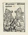 Keizers Macrinus en Clodius Albinus Macrinus opilius Albinus (titel op object) Liber Chronicarum (serietitel), RP-P-2016-49-44-10.jpg
