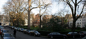 Kensington Square - Looking west across Kensington Square from the southeastern corner