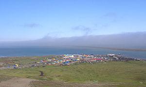 Khatyrka - Aerial view of the village of Khatyrka