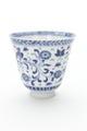 Kinesisk kopp av porslin med blå underglasyrmålning, från 1662-1722 - Skoklosters slott - 93535.tif