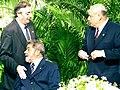 Kirchner, Lula da Silva y González Macchi en la cumbre del Mercosur 2003.jpg