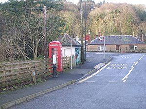 Kirkbean - Telephone Box and Bus stop - geograph.org.uk - 663201.jpg