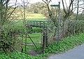 Kissing gate and footbridge - geograph.org.uk - 385842.jpg