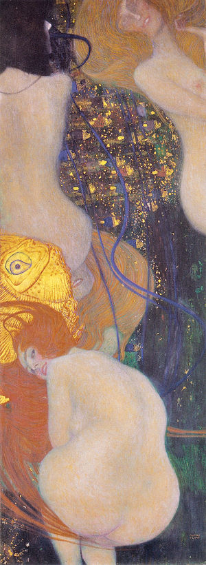 Klimt University of Vienna Ceiling Paintings - Goldfish 1901-1902