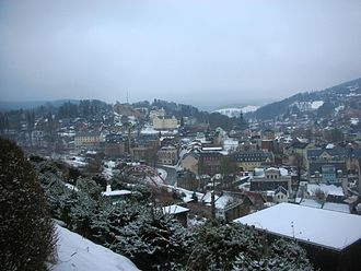 Klingenthal - Centre of the town in winter
