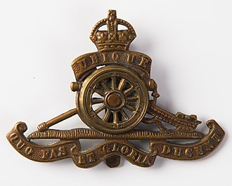 105th Siege Battery, Royal Garrison Artillery - Cap Badge of the Royal Regiment of Artillery