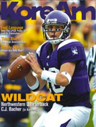 Northwestern Wildcats football - Quarterback C. J. Bachér on the cover of KoreAm, October 2008