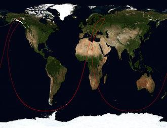 US-K - Ground track of Kosmos 2469